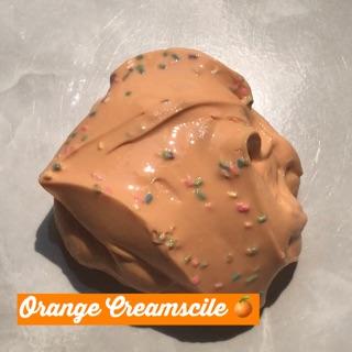 Orange Creamsicle / glossy slime / 8oz