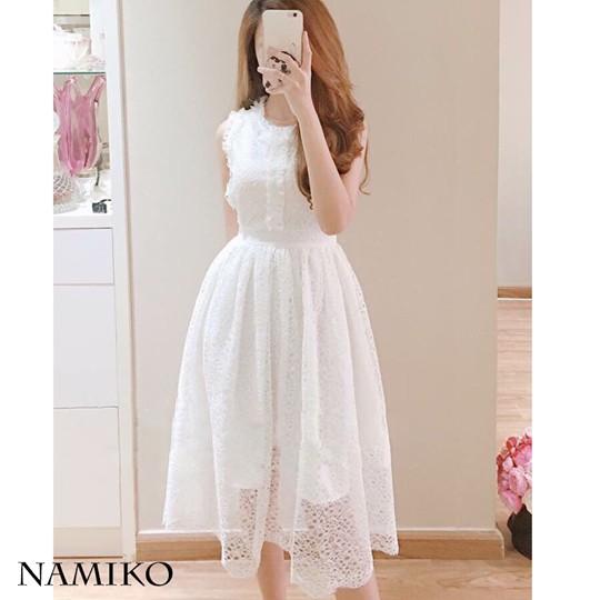 Đầm ren dự tiệc Namiko dress hàng thiết kế sang trọng kèm ảnh thật