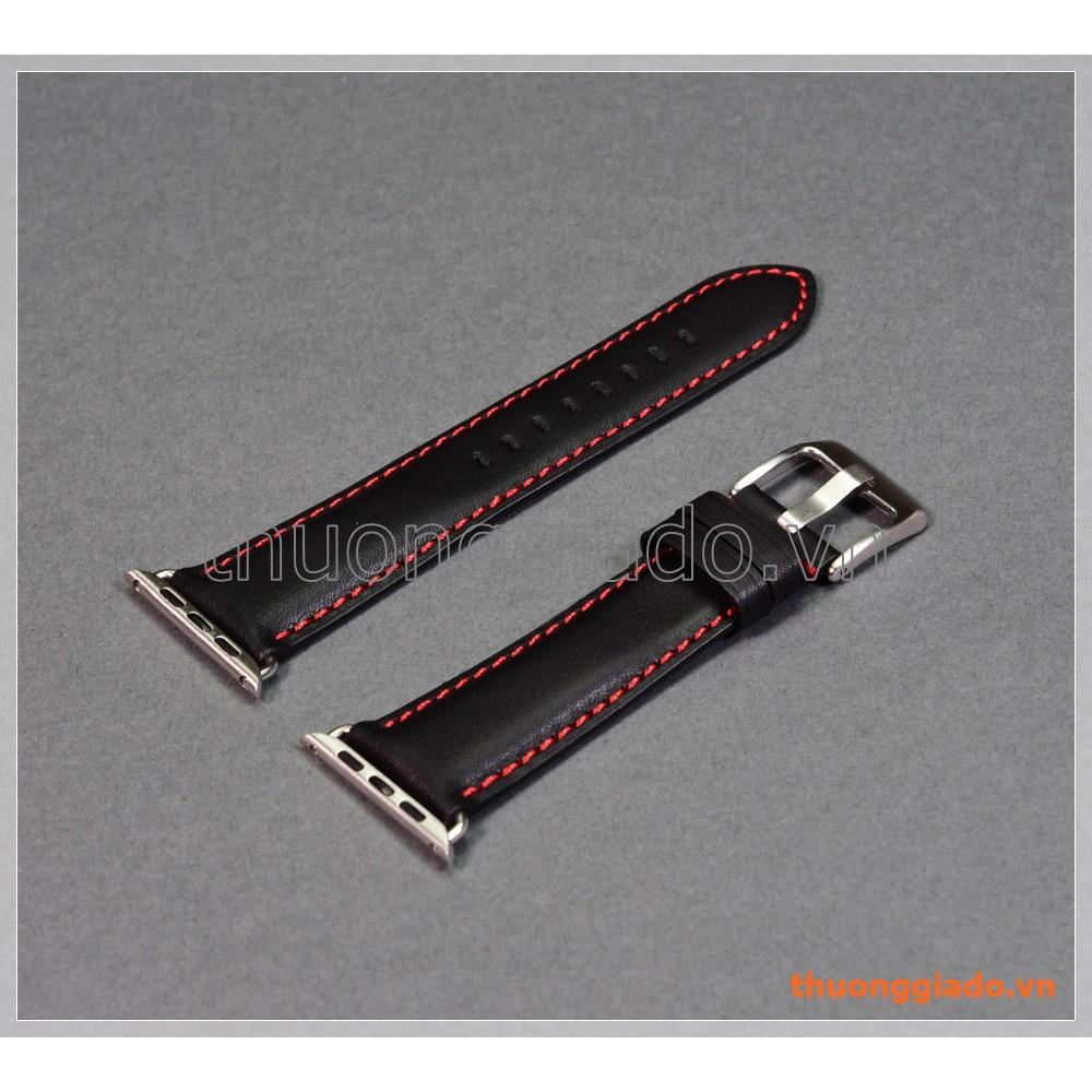 Dây đồng hồ Apple Watch 42mm (dây da bò, màu đen, chỉ viền màu đỏ) - 3423626 , 1316545963 , 322_1316545963 , 330000 , Day-dong-ho-Apple-Watch-42mm-day-da-bo-mau-den-chi-vien-mau-do-322_1316545963 , shopee.vn , Dây đồng hồ Apple Watch 42mm (dây da bò, màu đen, chỉ viền màu đỏ)