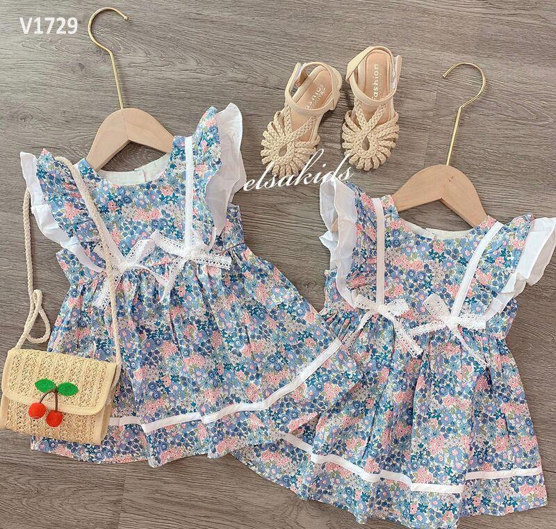 Váy Bé Gái 2 Nơ Cánh Tiên Hoa Hè