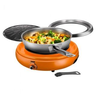Bàn nướng đa năng Đức Cao cấp Unold 58543 Asia Grill orange