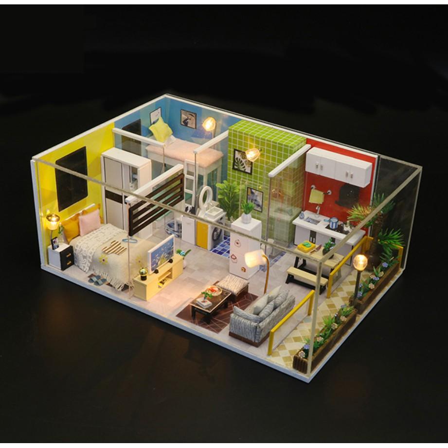 Mô hình nhà búp bê gỗ DIY - Simple Life - Cuộc sống giản đơn trong căn chung cư lạ...