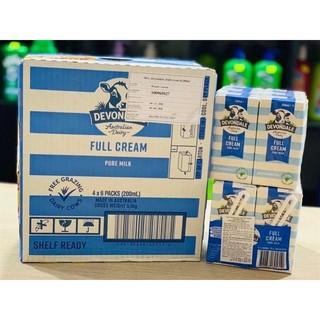 Date 09/2021 Sữa Devondale Nguyên Kem 200 'ml (24 hộp)