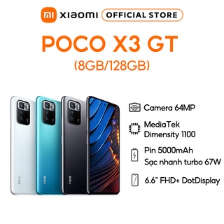 Điện thoại Xiaomi POCO X3 GT 8GB 128GB - Pin 5,000mAH - Sạc nhanh 67W thumbnail