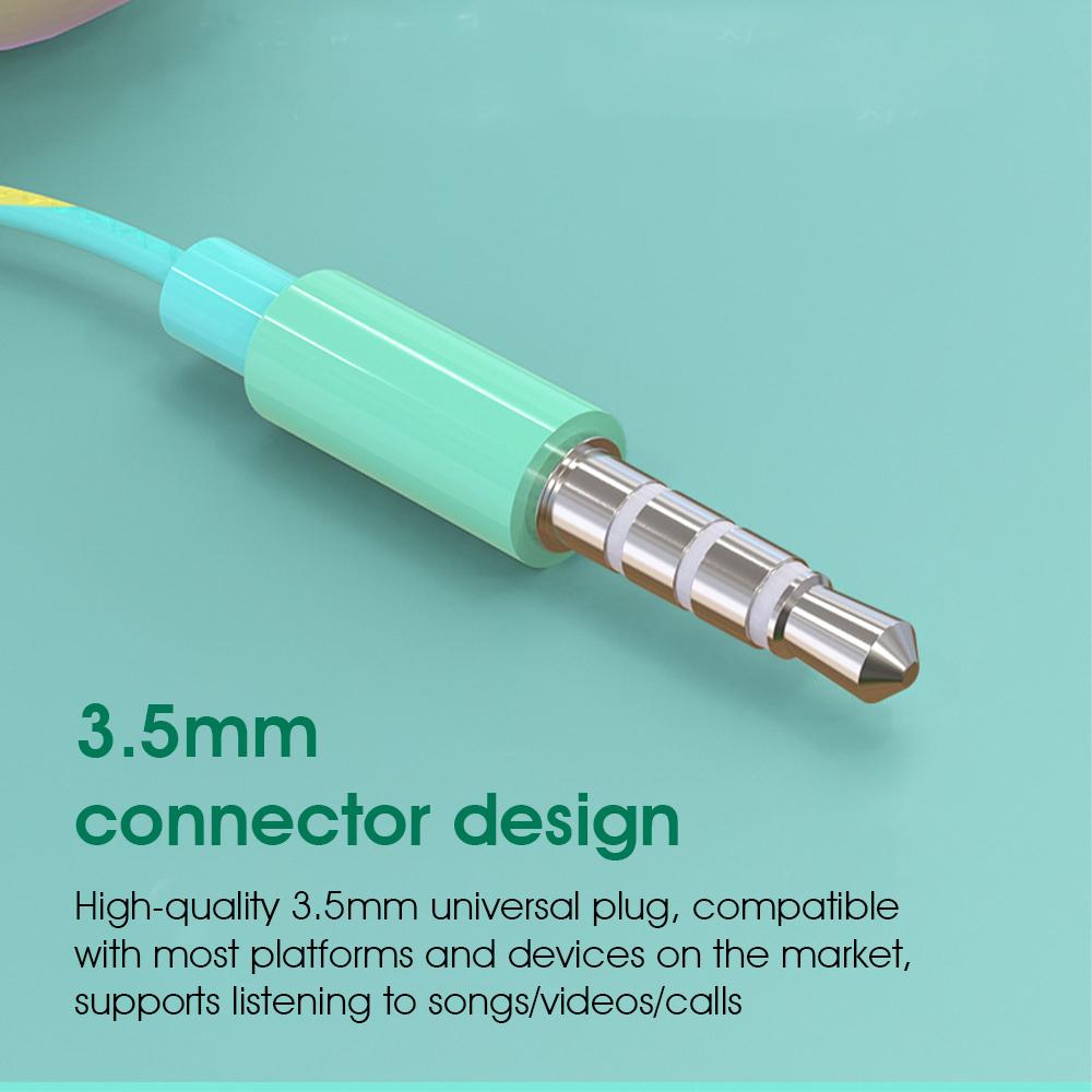 Tai nghe KAXOE nhét tai màu macaron đầu cắm 3.5mm phổ biến tích hợp micro