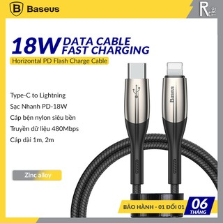 Cáp Sạc Nhanh Baseus Horizontal Type-C To Lightning PD Flash Charge Data Cable 18W Dùng Cho iPhone 11 Pro, iPad Pro
