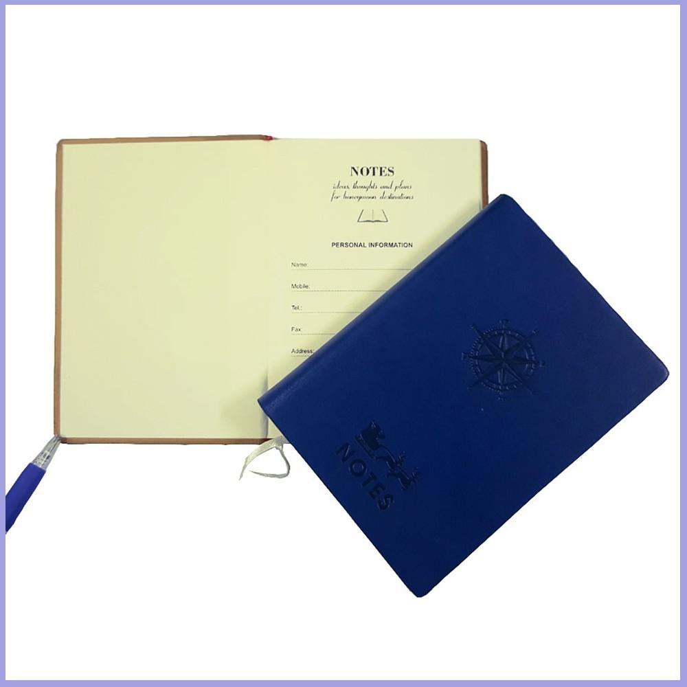 Combo 2 Sổ Ghi chép, Sổ Nhật Kí Bìa Da Cứng Kẻ Ngang Chống Lóa Mắt (160 trang-10cm x 13,8cm)