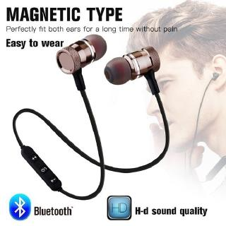 Magnetic Metal Sports Fitness Sweatproof Stereo Bass Noise Cancelling Wireless Bluetooth earphone