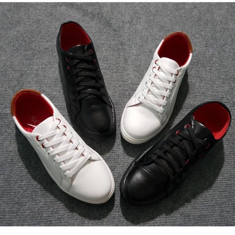Giày Bata Sneaker Nam Hàn Quốc (Đen Full/Trắng)