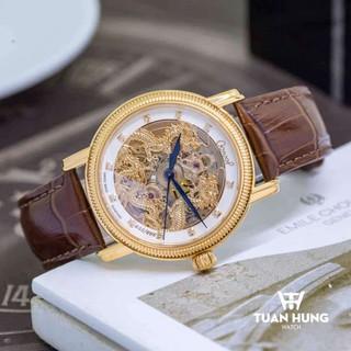 Đồng hồ Tuấn Hưng dòng cơ nam chính hãng Ogival OG358.652AGR-GL Song Long Chầu Nguyệt