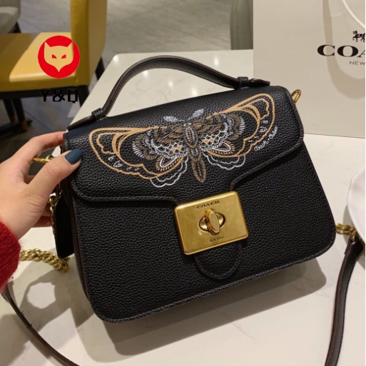 100% Authentic Coach Shoulder Bag Butterfly pattern Crossbody bag Leather Sling Bag