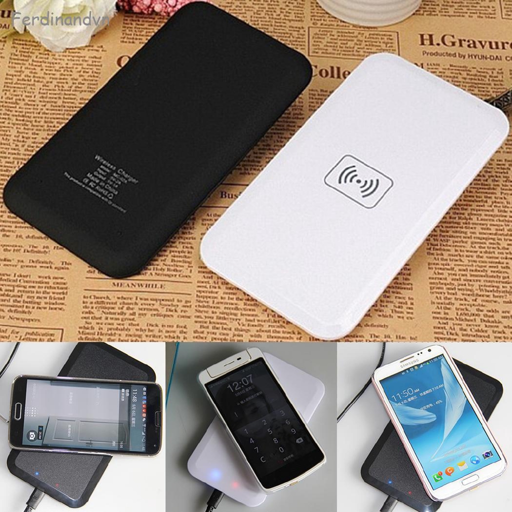 Stock❤ Portable Qi Wireless Power Fast Charging Charger Pad Plate For Smart