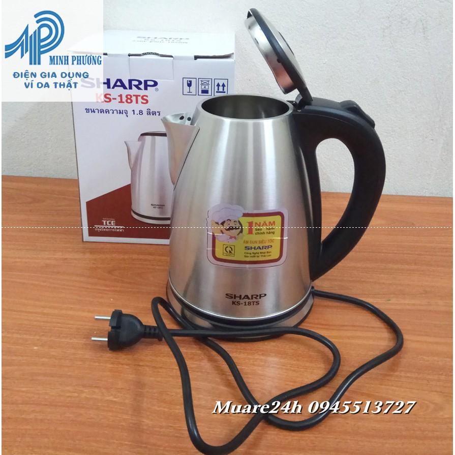 Ấm Siêu Tốc Cao Cấp INOX 304 Sharp KS 18TS Thailand