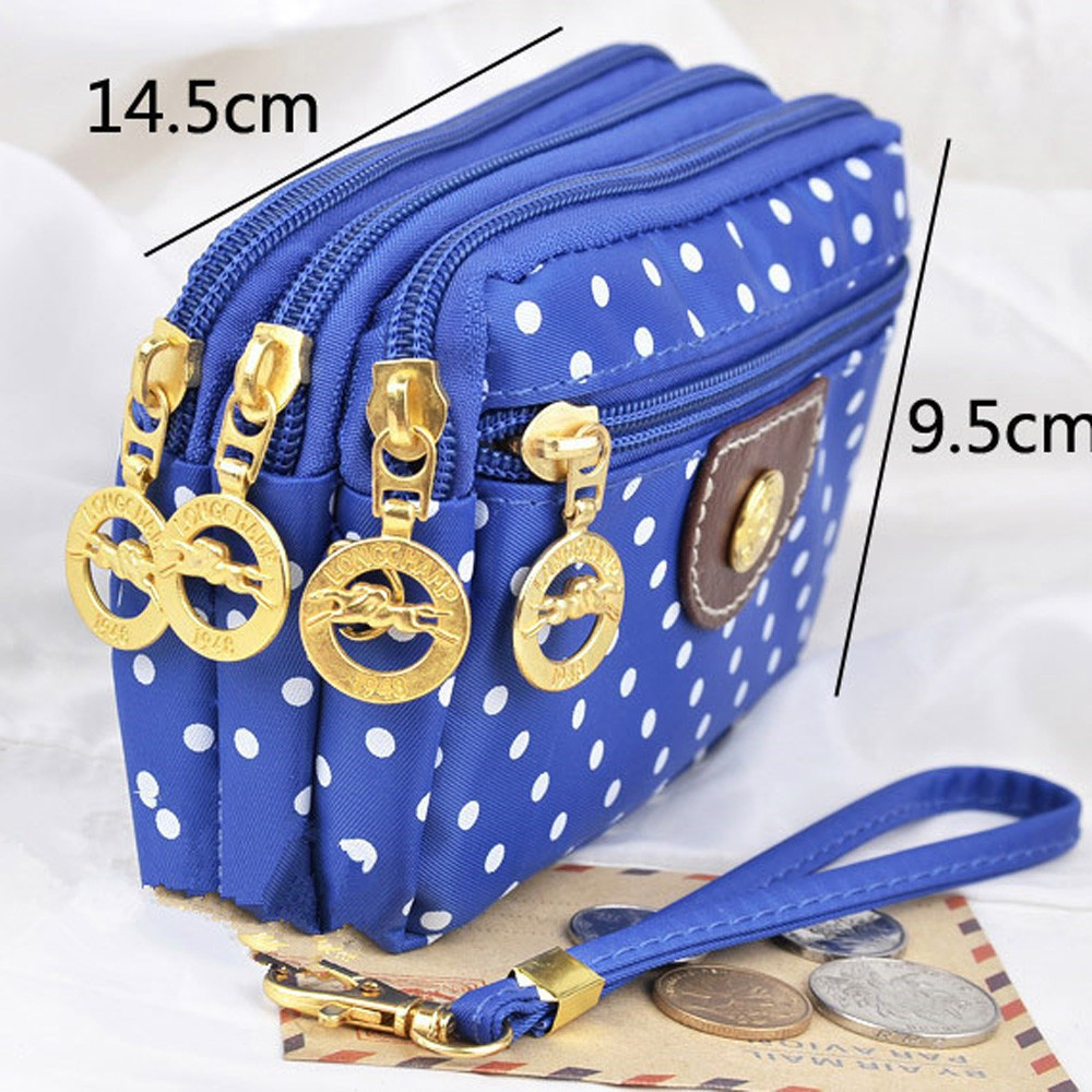 ❥(❀joyfeela❀)Fashion Women Canvas Bag Clutch Bag Messenger Wave Zipper Bag