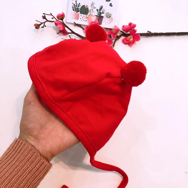 Mũ cục bông cho bé hàng QC ( 0-12m)