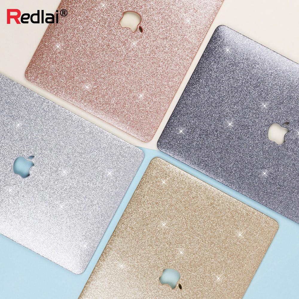 [Mã ELFLASH11 hoàn xu 10K đơn 20K] Vỏ bảo vệ lấp lánh dùng trang trí Apple MacBook Air 13 A1932 A1466 Pro 13.3 15.4