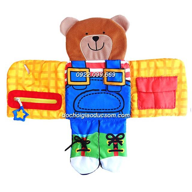Sách vải mặc đồ cho gấu Dress Up Bear