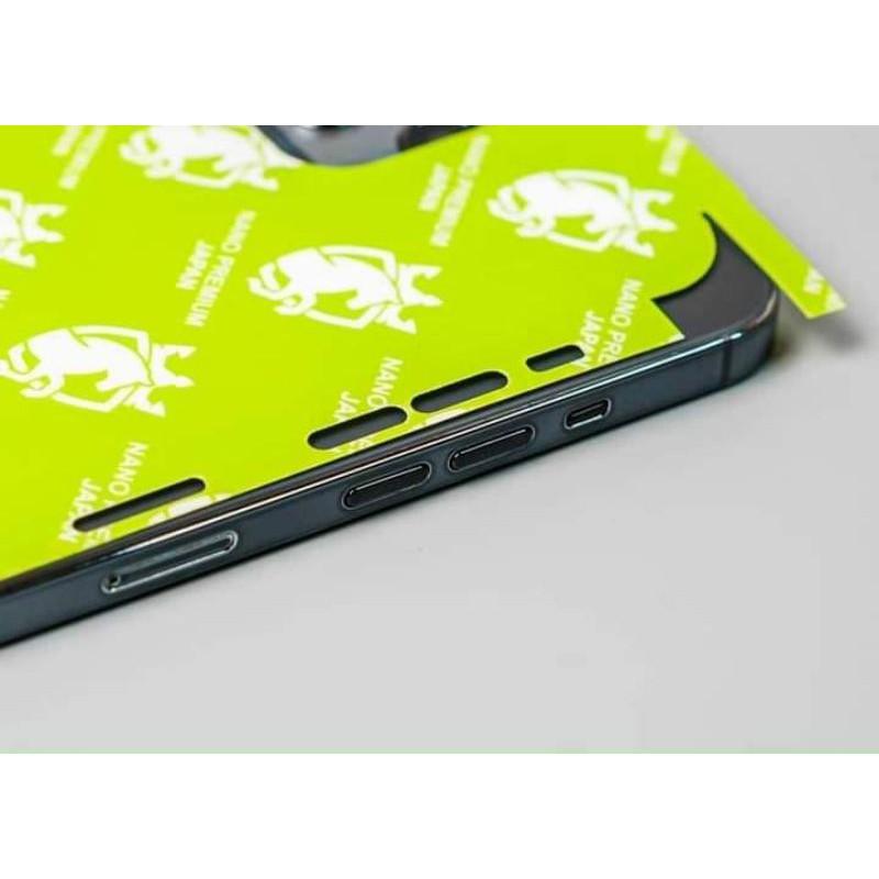 Dán PPF 4 lớp trong cao cấp NANO Premium JAPAN full viền máy, lỗ loa cho Iphone 12