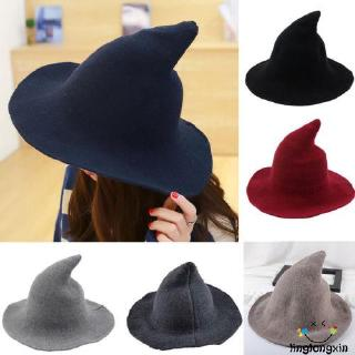 ✿soulmate✿-Modern Witch Hat Made From Fashion Sheep Wool Halloween Witch Hat NEW
