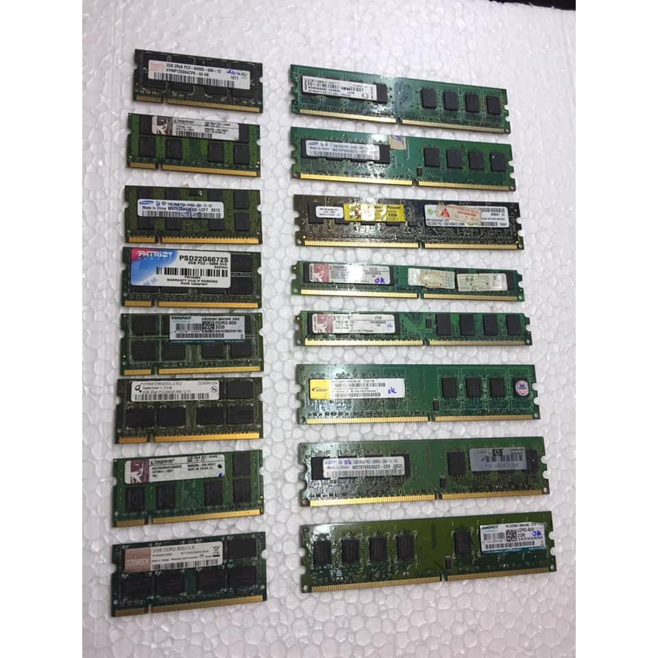 RAM DDRam 2 BUS 667/800 1G 2G cho PC và Laptop