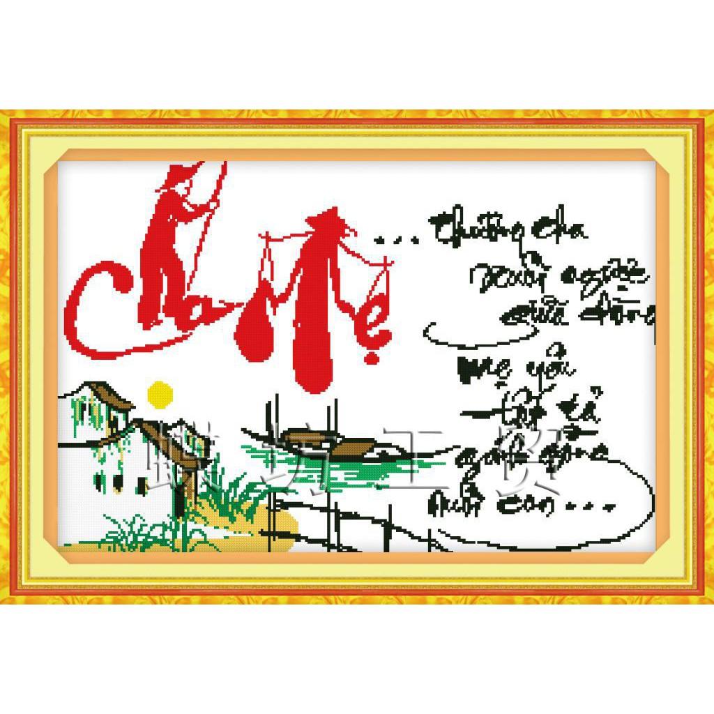 Tranh thêu chữ thập chưa thêu Thương Cha Xuôi Ngược Giữa Dòng, Mẹ Yêu Tất Tả Gánh Gồng Nuôi Con 2225 - 3187891 , 383485681 , 322_383485681 , 77000 , Tranh-theu-chu-thap-chua-theu-Thuong-Cha-Xuoi-Nguoc-Giua-Dong-Me-Yeu-Tat-Ta-Ganh-Gong-Nuoi-Con-2225-322_383485681 , shopee.vn , Tranh thêu chữ thập chưa thêu Thương Cha Xuôi Ngược Giữa Dòng, Mẹ Yêu Tất Tả