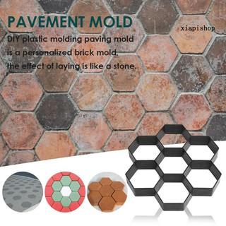 Đồ dùng làm vườn 30cmx30cm Hexagon Manual Paving Cement Brick Concrete Pavement Mold Path Maker