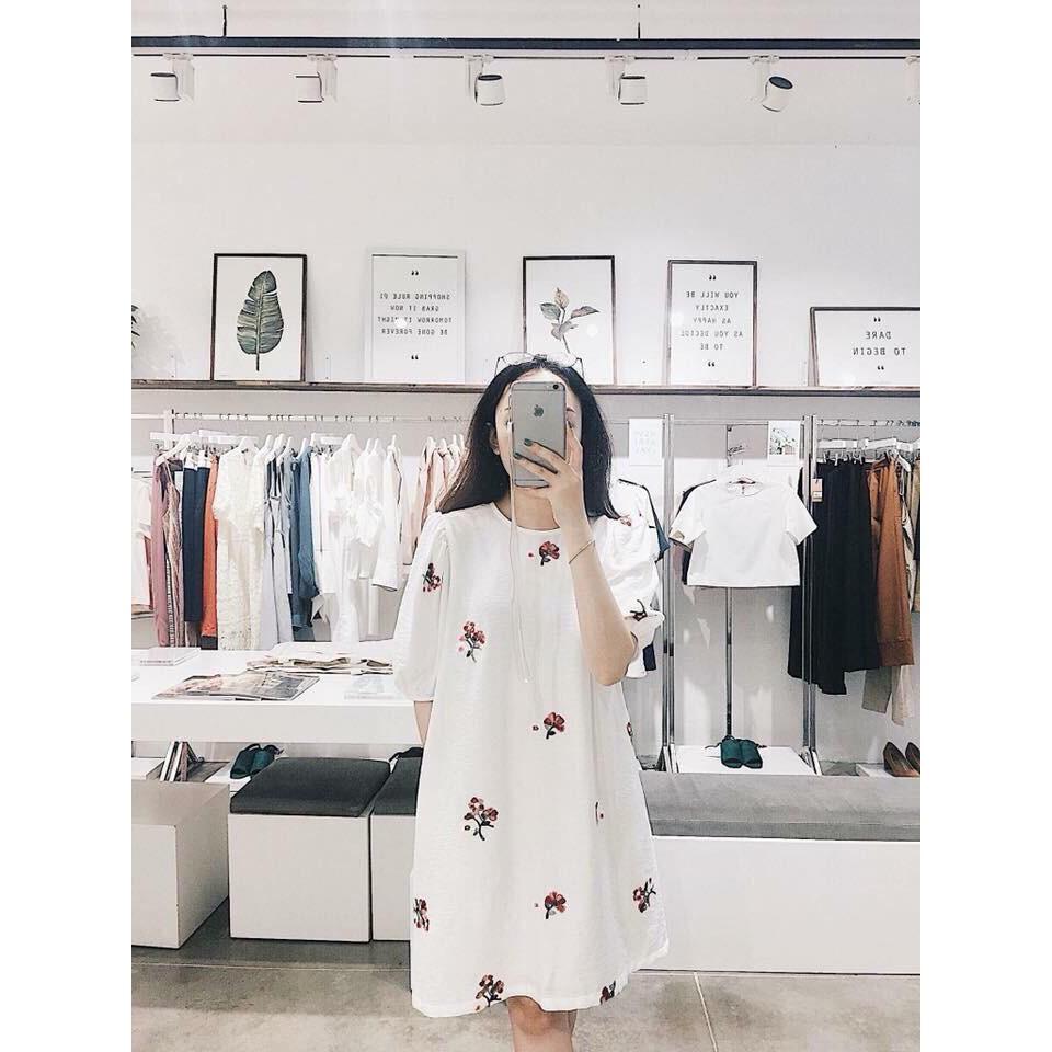 Đầm Suông Thêu Hoa