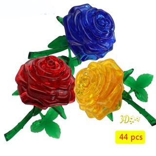 Mô hình lắp ráp hoa hồng 3d xinh xắn độc đáo