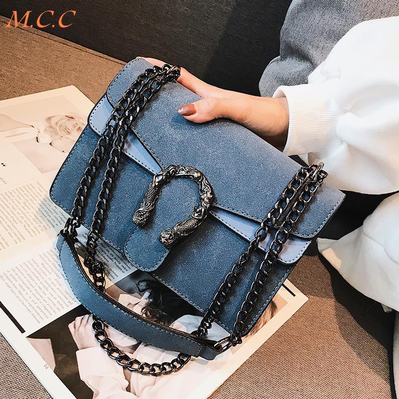 New small bag female 2019 summer new female bag fashion chic chain bag 2019 retro wild small square bag