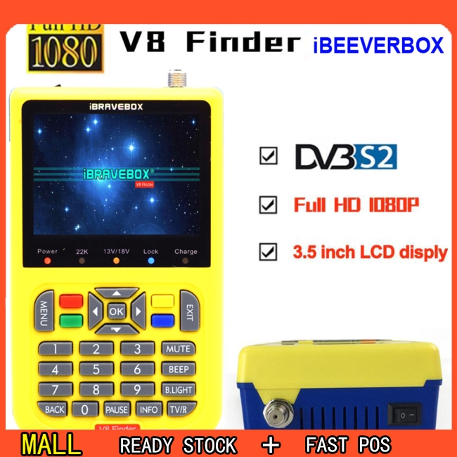 iBRAVEBOX V8 Finer HD DVB-S2 Satellite Finder MPEG-2 MPEG-4 Better Finder Meter Giá chỉ 1.649.000₫