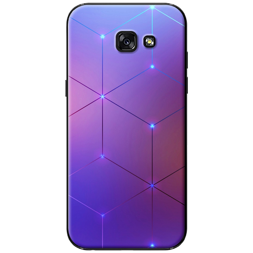 Ốp lưng Samsung A3/A5/A7 (2017) - nhựa dẻo Tia màu tím