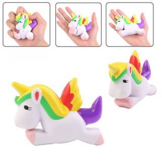 Simulation Flying Unicorn Pony Horse Squishy Toys Slow Rising Squeeze Doll Fun Jokes