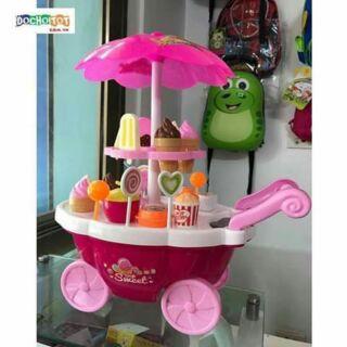 Bộ đồ chơi xe đẩy bánh kem cho bé.