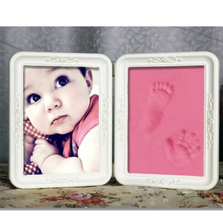 HEL❤ 1set Creative born Baby First Hand and Foot Print Po Frame Best Baby