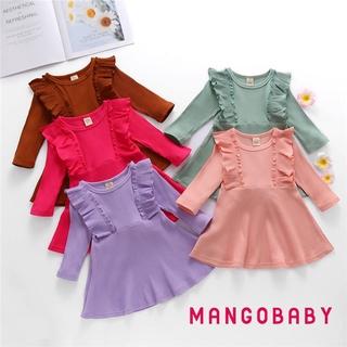 Đầm Dệt Kim Tay Dài Cổ Tròn Màu Trơn Phối Ren Thời Trang Cho Bé Gái %0020 Màu Sắc