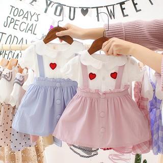 Đầm thời trang mùa hè ngắn tay xinh xắn dành cho bé gái