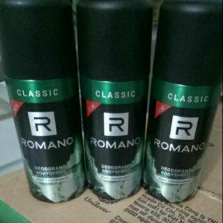 Yêu Thích150 ml Xịt khử mùi toàn thân cho nam Romano Classic
