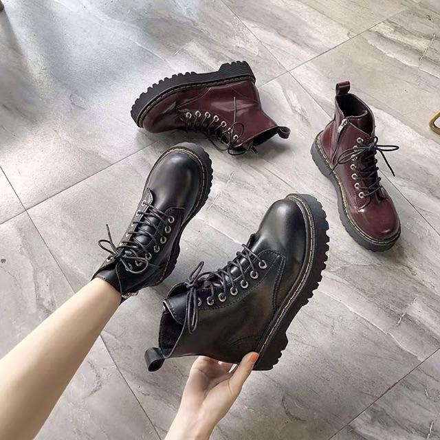 Giày boots khoá kéo cổ cao ulzzang kèm ảnh thật hình cuối có sẳn nâu đỏ 39, sẳn đen 35,36,37,38,39