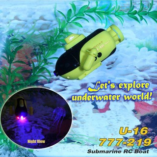 Happy Cow Mini Rc Racing Submarine Boat Remote Control Toys Child Present