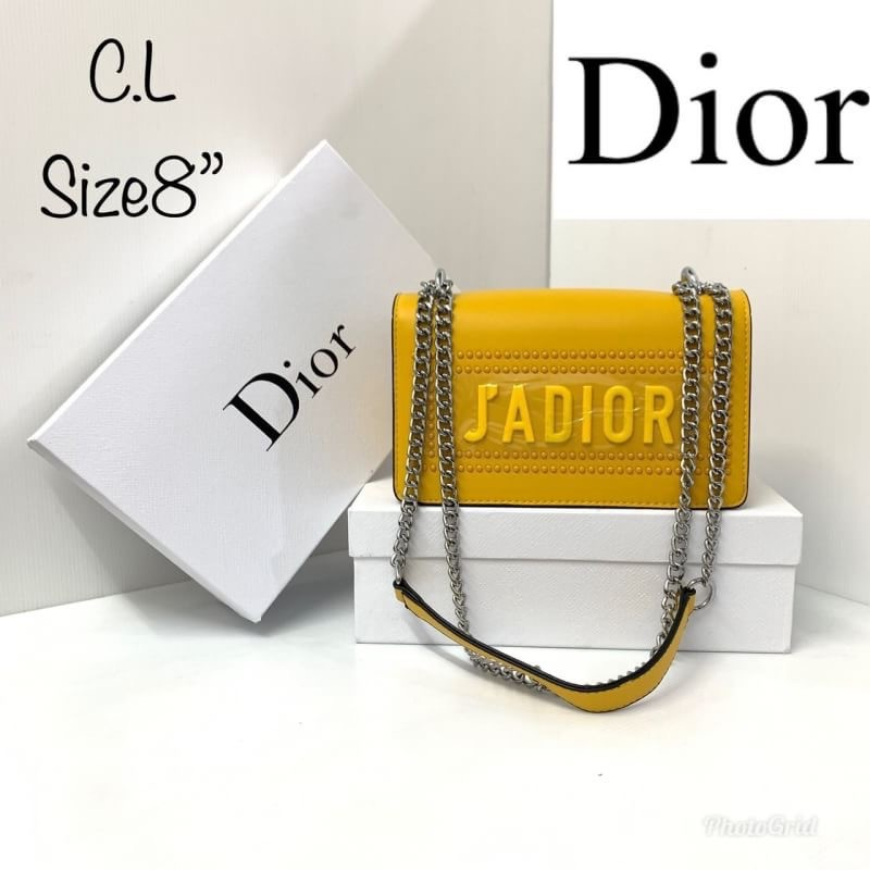 กระเป๋าสะพายข้างดิออร์ Dior ด้านหน้าสกรีนนูน J'ADIOR สวยน่ารักสดใสมากๆค่ะ