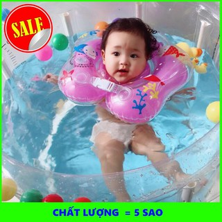 Bể bơi khung tròn tặng kèm phao cổ cho bé yêu 80x80cm – SIÊU BỀN