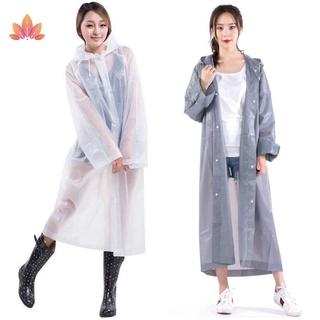 EVA Rain Coat Women Men Raincoat Thickened Waterproof Rain Coat Women Clear Transparent Camping Rainwear JP5