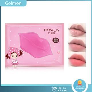 Mặt nạ môi Bioaqua mặt nạ ủ môi giúp môi hồng mịn và căng bóng Golmon