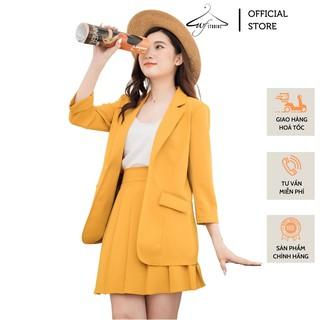 Set áo vest blazer nữ + chân váy ngắn xếp ly - SV01 - WFStudios thumbnail