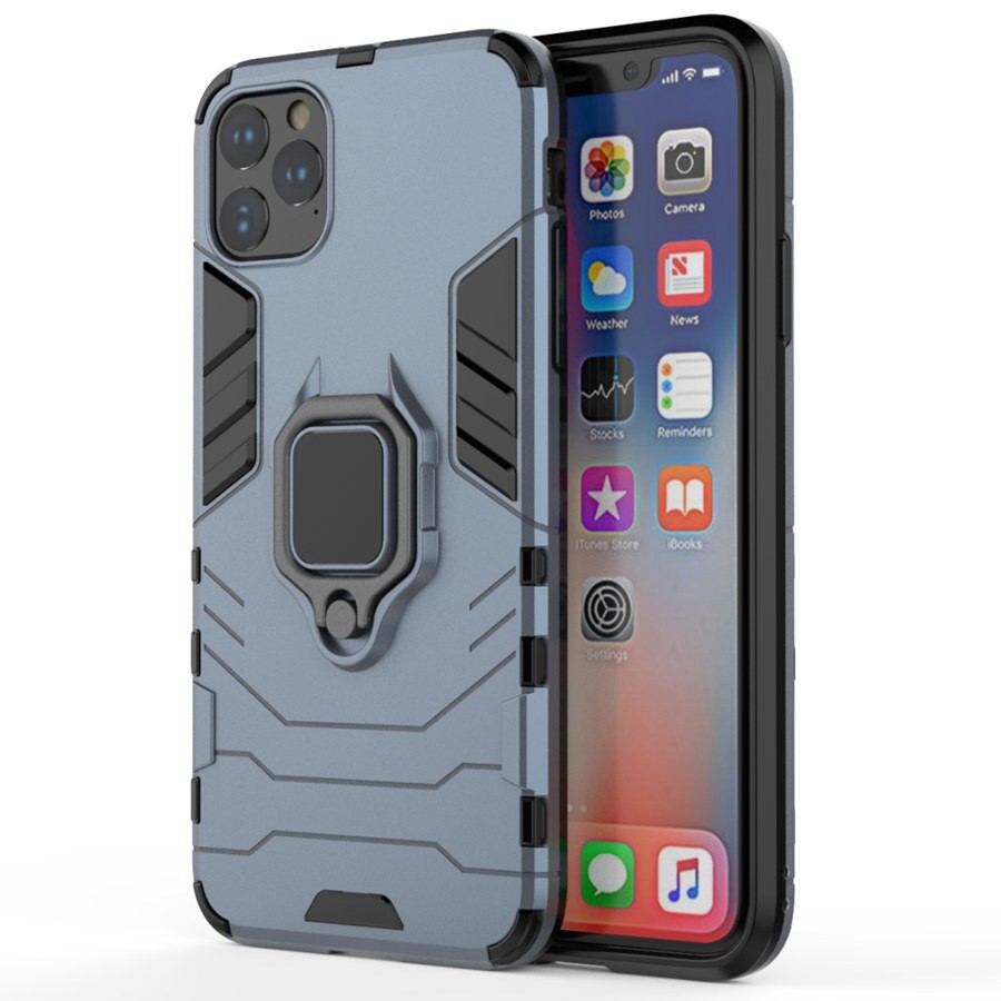 WT iphone 11 case iPhone 11 Pro Max Rotation Ring Holder Anti-fall 360 Degree Armor Case Cover