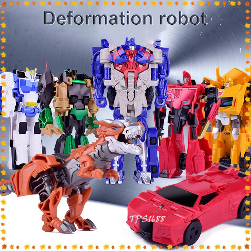 Transformation Deformation Robot Car Model Toy Action Figures Kids Toys Christmas Gifts