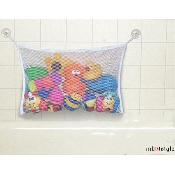 LAN-NEW Woven Kids Baby Bath Tub Toy Bag Hanging Organizer Storage Bag Large