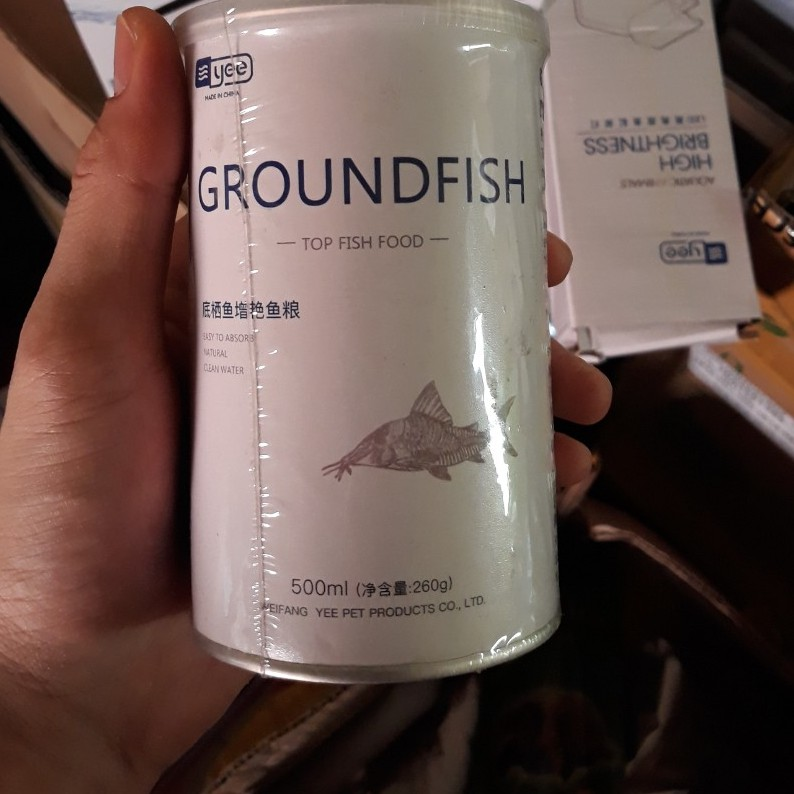 Thức Ăn Chuyên Dụng Cho Cá Chuột, Pleco, Longfin Và Các Loại Cá Tầng Đáy- Cám Groundfish - Nguyên hộp hạt 5 mm