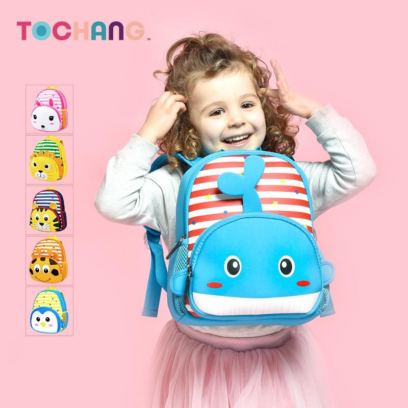 Balo trẻ em chính hãng TOCHANG mẫu thú cưng cho bé