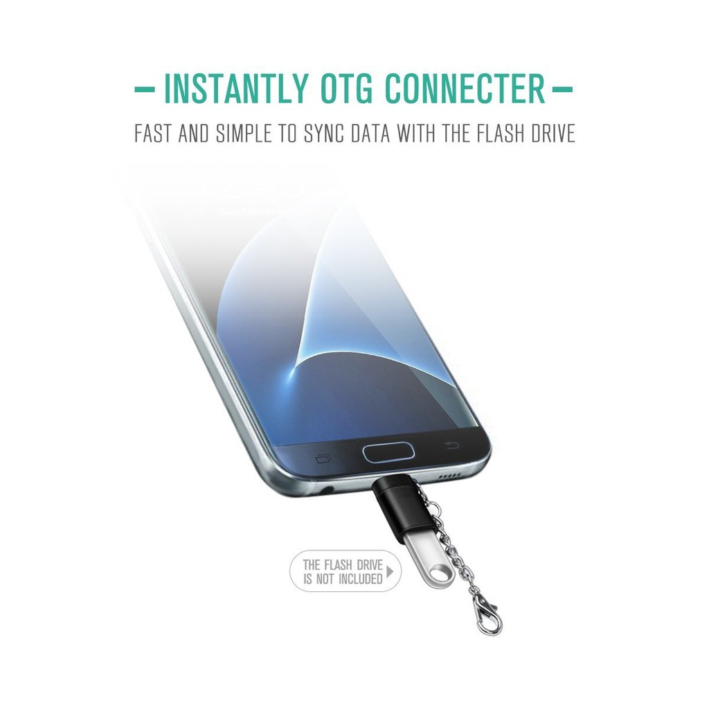 XQ-A013 USB 3.1 Type C to A OTG Data Host Adapter for MacBook & Chromebook & Cell Phone